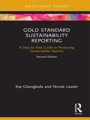 cover image of Gold Standard Sustainability Reporting