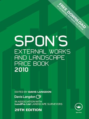 cover image of Spon's External Works and Landscape Price Book 2010