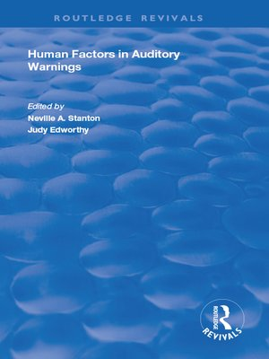 cover image of Human Factors in Auditory Warnings