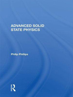 cover image of Advanced Solid State Physics