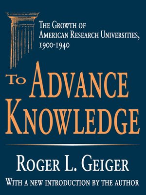 cover image of To Advance Knowledge