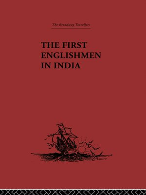 cover image of The First Englishmen in India