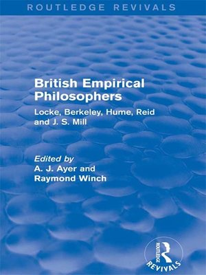 cover image of British Empirical Philosophers (Routledge Revivals)