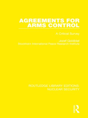 cover image of Agreements for Arms Control