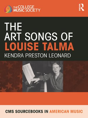 cover image of The Art Songs of Louise Talma