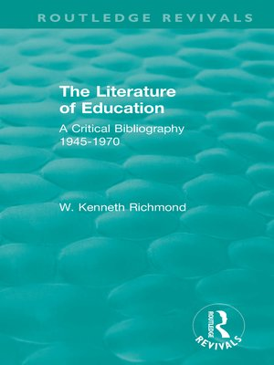 cover image of The Literature of Education