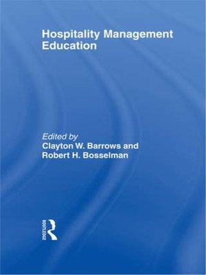 cover image of Hospitality Management Education