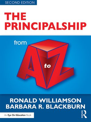 cover image of The Principalship from a to Z