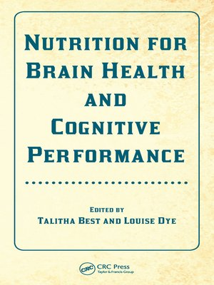 cover image of Nutrition for Brain Health and Cognitive Performance