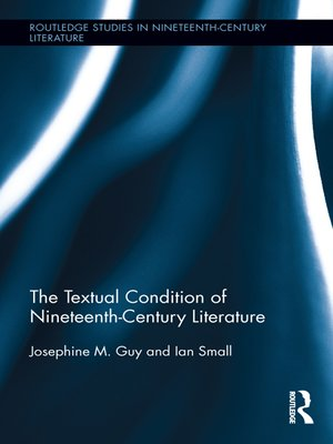 cover image of The Textual Condition of Nineteenth-Century Literature