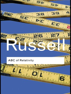 cover image of ABC of Relativity
