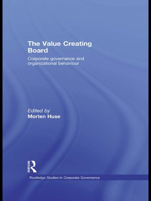cover image of The Value Creating Board