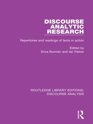 discourse analysis research papers