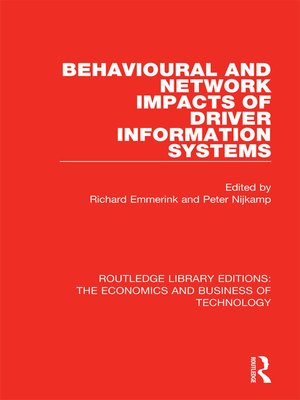 cover image of Behavioural and Network Impacts of Driver Information Systems