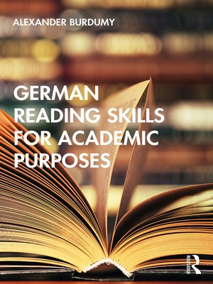 cover image of German Reading Skills for Academic Purposes