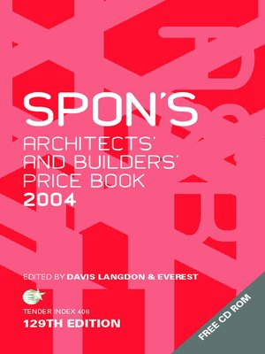 cover image of Spon's Architects' and Builders' Price Book 2004