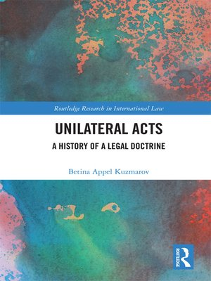 cover image of Unilateral Acts