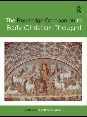 cover image of The Routledge Companion to Early Christian Thought