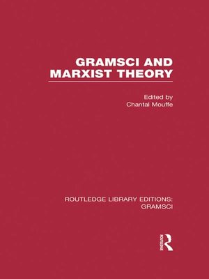 cover image of Gramsci and Marxist Theory (RLE