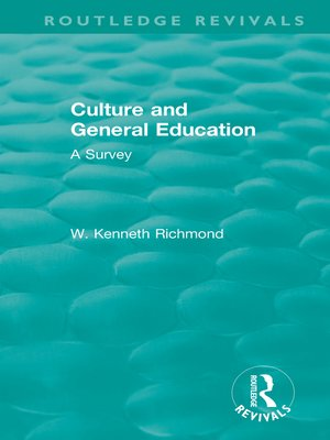 cover image of Culture and General Education