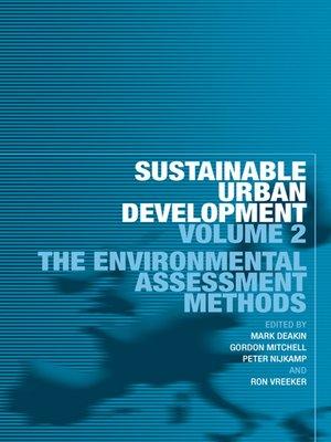 cover image of Sustainable Urban Development Volume 2