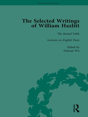 cover image of The Selected Writings of William Hazlitt Vol 2
