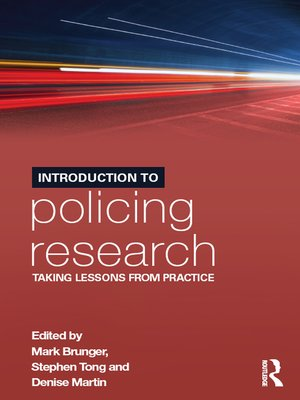 cover image of Introduction to Policing Research