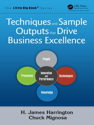 cover image of Techniques and Sample Outputs that Drive Business Excellence