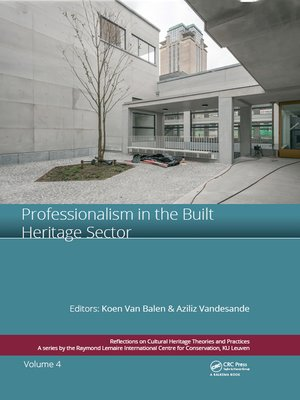 cover image of Professionalism in the Built Heritage Sector