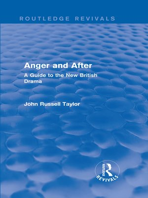 cover image of Anger and After (Routledge Revivals)