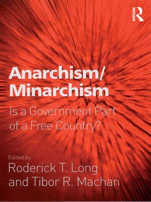 cover image of Anarchism/Minarchism