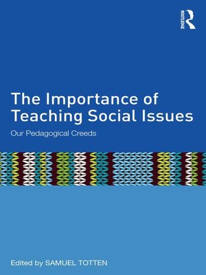 cover image of The Importance of Teaching Social Issues