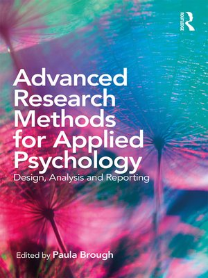 cover image of Advanced Research Methods for Applied Psychology