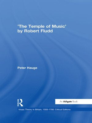 cover image of 'The Temple of Music' by Robert Fludd