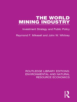 cover image of The World Mining Industry