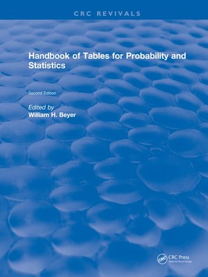 cover image of Handbook of Tables for Probability and Statistics