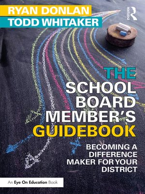 cover image of The School Board Member's Guidebook