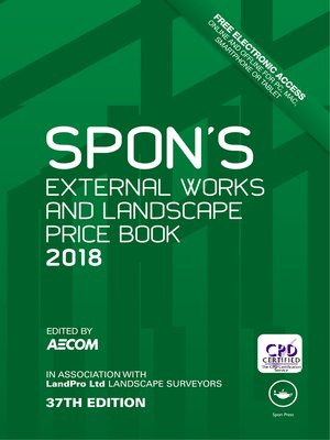 cover image of Spon's External Works and Landscape Price Book 2018