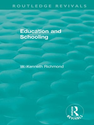 cover image of Education and Schooling
