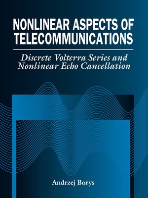 cover image of Nonlinear Aspects of Telecommunications