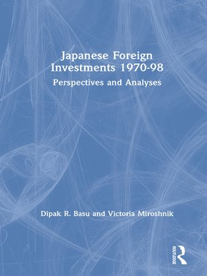 cover image of Japanese Foreign Investments, 1970-98