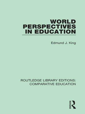cover image of World Perspectives in Education