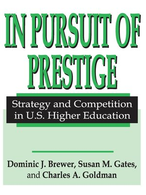 cover image of In Pursuit of Prestige