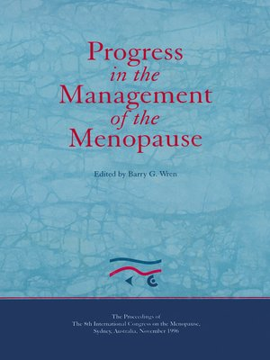 cover image of Progress in the Management of the Menopause