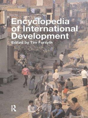 cover image of Encyclopedia of International Development