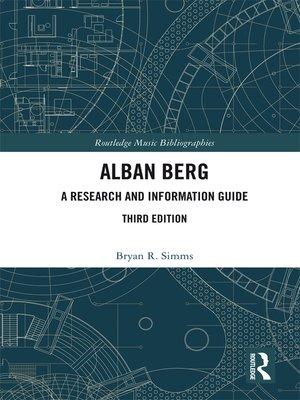 cover image of Alban Berg