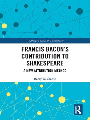 cover image of Francis Bacon's Contribution to Shakespeare