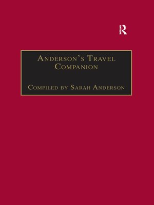 cover image of Anderson's Travel Companion