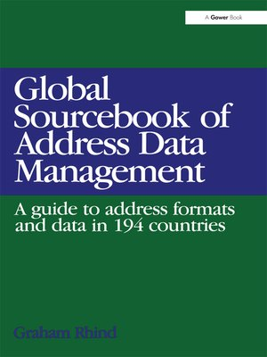 cover image of Global Sourcebook of Address Data Management