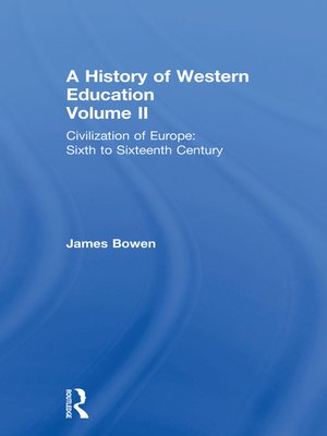 cover image of Hist West Educ